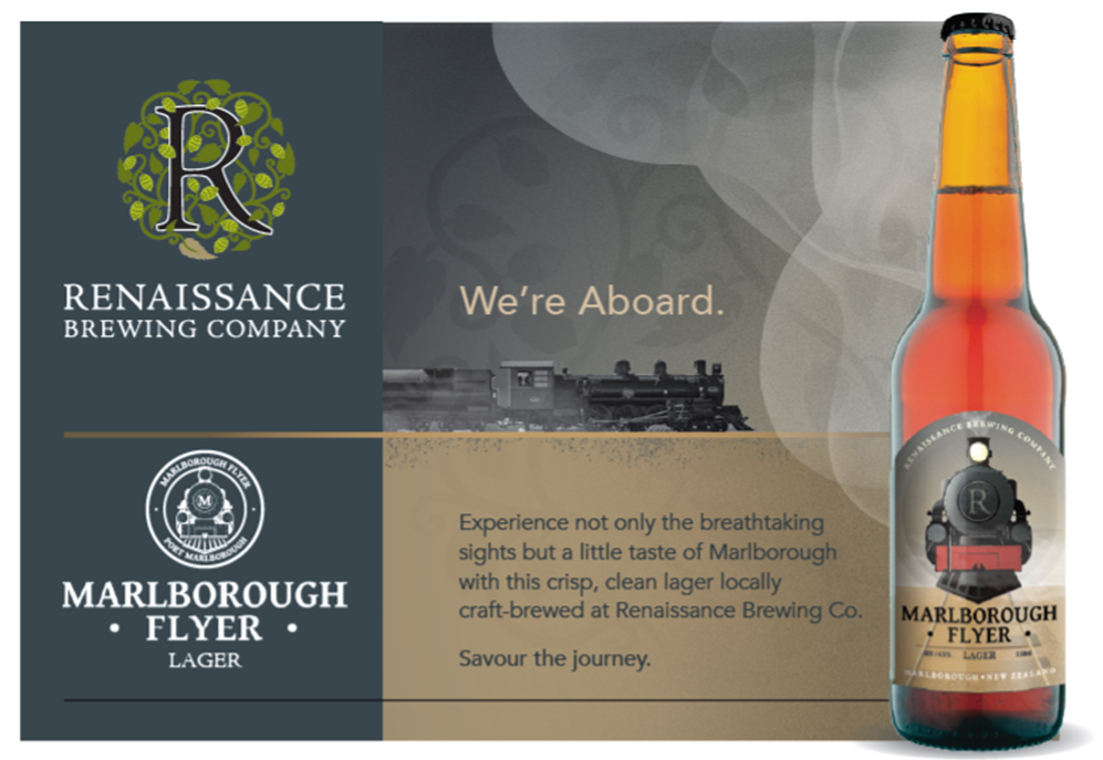 "Introducing ""Marlborough Flyer Lager"""